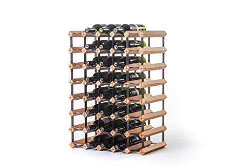 RAXI ™ Classic Premium Weinregal aus Holz mit luxuriösem Design/Flaschenregal für 40x Wein Flaschen