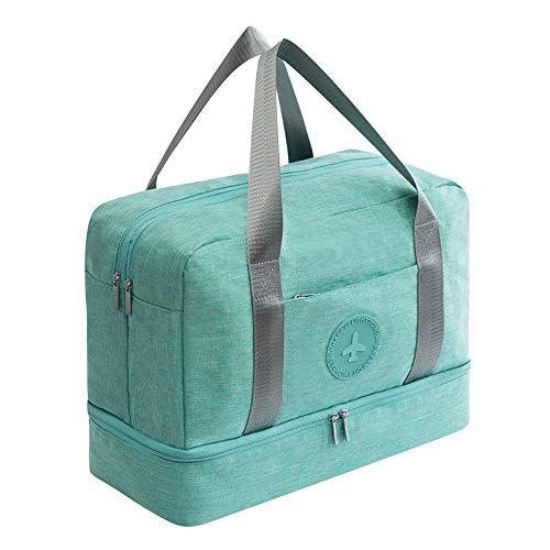 CaoQuanBaiHuoDian Dauerhafter Golfkleidungstasche Golfsport-Gymnastasche mit Schuhfach und nass Tasche wasserdichte Duftsack Übernachtetasche Breiter Einsatz (Farbe : Blue, Size : 39x18x30cm)