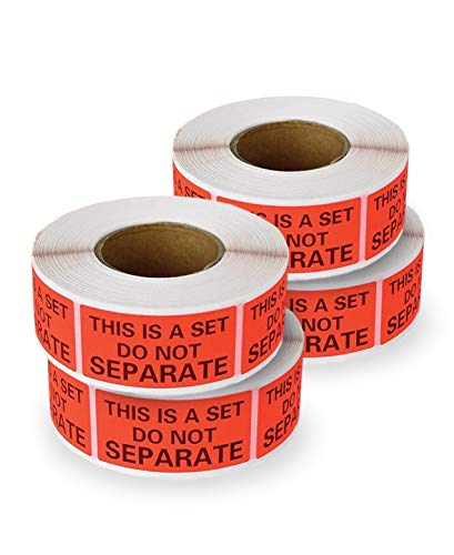 enKo - This is A Set Do Not Separate Packaging Labels (1 x 2 Inch) Fluorescent Red FBA Label (4 Roll, 2000 Labels)
