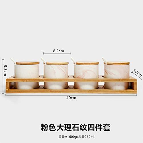 blikjes voor thee koffie en suiker opslag potten glas kruiden pot driedelige kruiden doos set kruiden fles suiker kom zout pot chili pot glazen potten O