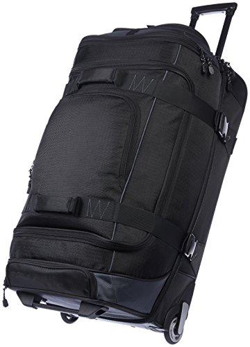 Amazon Basics - Mochila con ruedas de ripstop, 76 cm, 86.9 litros - Negro