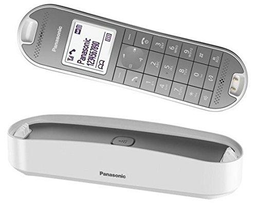 Panasonic KX-TGK320GW Design-Telefon schnurlos mit Anrufbeantworter, analoges Telefon (DECT) in Weiß