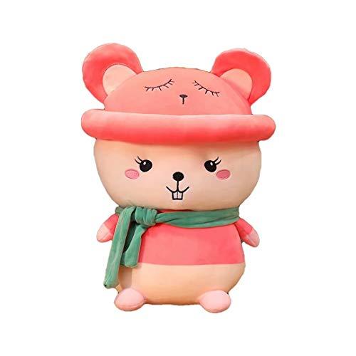 Lindo ratón Feliz de Peluche de Juguete Mascota de Juguete de Felpa Almohada de ratón de Dibujos Animados muñecos de ratón de Peluche Suave muñecos de Peluche Regalo de cumpleaños 25 / 37cm
