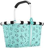 Reisenthel carrybag XS kids Einkaufskorb 33,5 x 18 x 19,5 cm / 5 l / cats and dogs mint -