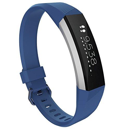Pinhen, cinturino da polso per Fitbit, regolabile, cinturino sportivo per Fitbit, Alta HR, Blue, L