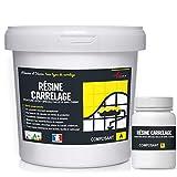 peinture pour carrelage cuisine salle de bain résine rénovation meuble - RAL 7011 Gris fer - Kit 1 Kg...