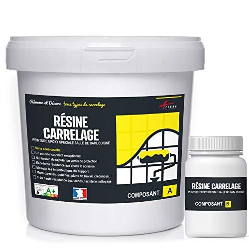 FLIESENLACK : Fliesenfarbe für Küche und Badezimmer - Pastell-Türkis RAL 6034 - Kit 2.5kg bis zu m² für 2 Schichten