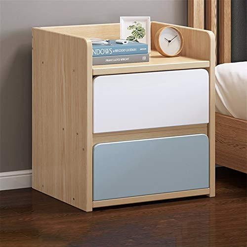 YYOBK 2-Drawer Nightstand,Wood Accent Table, End Table,Side Table, Night Stand, Bedside Table, Bedside Furniture For Home Bedroom Office College Dorm (Color : C, Size : 36 * 34 * 45cm)