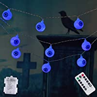 Amadecohome Halloween 30-LED String Lights with Wireless Remote Control
