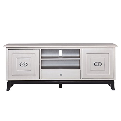 SEI Furniture Orion 60' TV Media Stand - Cabinets w/Adjustable Shelves - Antique Gray Finish