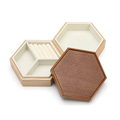 JeweR Soporte de exhibición de la joyería Bandeja de Soporte Caja de Almacenamiento de múltiples Funciones con geometría Hexagonal de 3 Rejillas del Panal (Color : D)