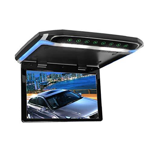 MiCarBa 12.1 Pulgadas Flip Down Monitor 1080P HD TFT LCD Montaje en Techo Monitor Ultrathin Overhead Reproductor de Video con función (CL1201BL)