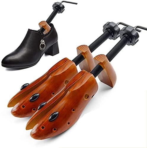 QAZW Zapatos De Fútbol De La Zapatilla De Deporte Ajustables del Cedro De Los Árboles del Zapato, Camilla De Plástico Zapatos, Hormas para Zapatos Formador De Zapatos,Brown-M(EU39~41)