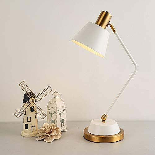L.W.S Lámpara de Escritorio Lámpara Blanca y Negro lámpara de Mesa Dormitorio a la Cama Simple Moderna Europeo nórdico Creativo romántico Lectura Hotel ingeniería Mesa lámpara (Color : White)