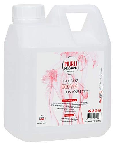 Nuru Gel Classic, Super glatt, Geruchlos, Geschmacklos, Massage Gel (Normal - 1 Liter)