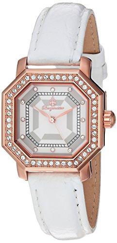 Burgmeister Armbanduhr für Damen mit Analog Anzeige, Quarz-Uhr und Lederarmband - wasserdichte Damenuhr mit zeitlosem, schickem Design - Klassische, Elegante Uhr für Frauen - BM168-386 Allinges
