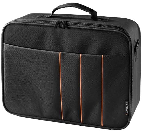 celexon Beamertasche Economy - 41x29x15 cm - Hartschalenrahmen - wasserabweisend und abwaschbar - 100prozent Polyester - schwarz