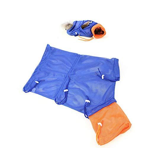 Aduck Katzen-Pflegetasche, Kratz- und Beißresistent, zum Baden / Einspritzen / Krallen während der Fellpflege oder des Badens