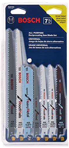 7-Pack Bosch Demolition Reciprocating Saw Blade Set  $9.99 at Amazon