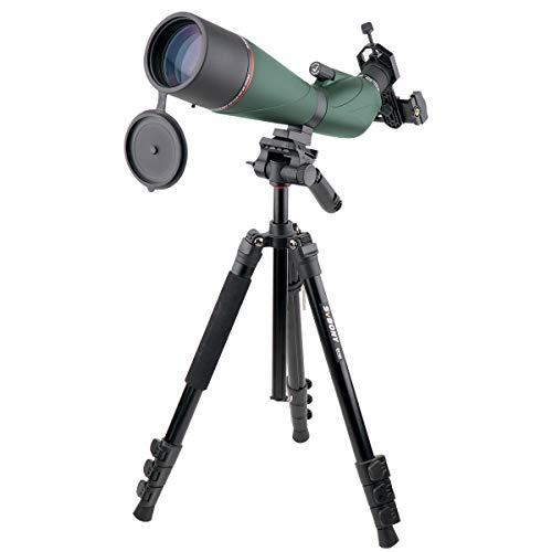 Svbony SV408 Telescopio Terrestre 20-60x80 Impermeable Antiniebla Telescopio Monocular HD FMC Óptica Telescopio Terrestre Adaptador de Teléfono Trípode para Observación de Aves