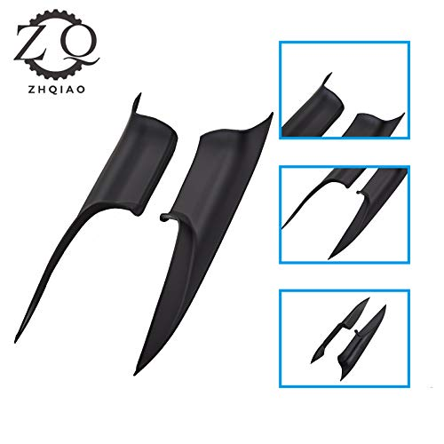 ZHQIAO 2PCS Door Pull Handle Cover Trim For BMW 7 Series, Left Front and Right Front Door Handle Carrier Trim Cover Kit (Fits:BMW 730 740 750 760 F01/F02 2008-2014)(Left & Right, Front)