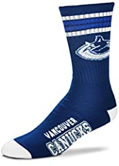 Officially Licensed NHL Product 83% Acrylic/14% Polyester/2% rubber/1% Spandex 1 Pair. Large-Fits men's shoe sizes 10-13. Medium-Fits shoe sizes 5-10. Machine Washable White Sock Material (75% Acrylic/22% Stretch Nylon/3% Spandex)