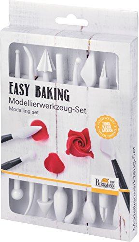 Birkmann Kit Outils de modelage Easy Baking, Plastique, Blanc, 2 x 12,5 x 20,5 cm, 4 unités de
