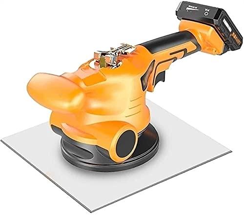 Yokbeer Solador, Martillo Vibratorio para Baldosas de Caucho - Ventosas de Aluminio - 200 Kg de Capacidad de Carga para Colocación de Baldosas y Revestimientos (Size : One Lithium Battery)