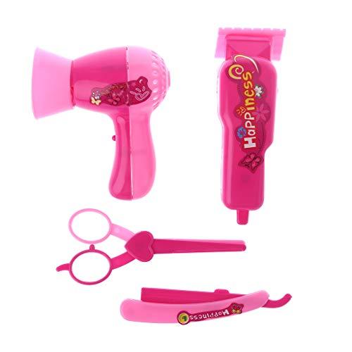 Runrain 1 Set Puppe Haarschnitt Zubehör Mädchen Geschenke Rasierer Augenbrauen Friseursalon Kinder Spiel Föhn Schere Rasierer Schaber Kunststoff Puppen Wohnzimmer Friseur