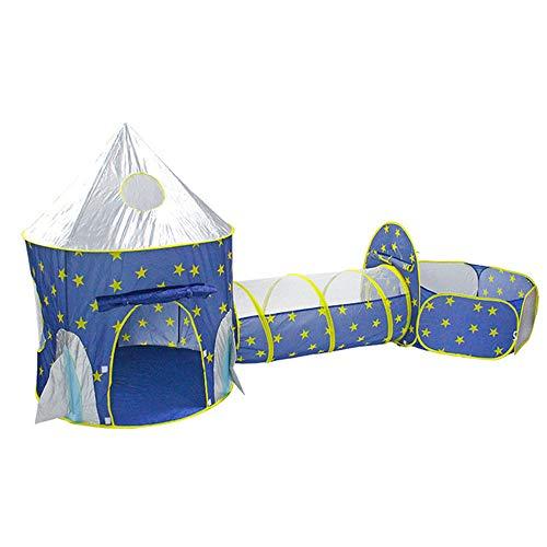 Pop Up Tente Tunnel Crawl enfants en bas âge, Playhouse balle Pit Tente pliante avec tunnel, Boule Pit, Panier de basket et un sac Zippered de stockage, pour les enfants, garçons, filles,Gris