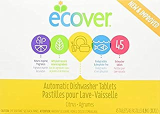 Ecover, Automatic Dishwasher Tablets, Citrus Scent, 3 Pack 45 Tablets, 31.7 oz (0.9 kg)