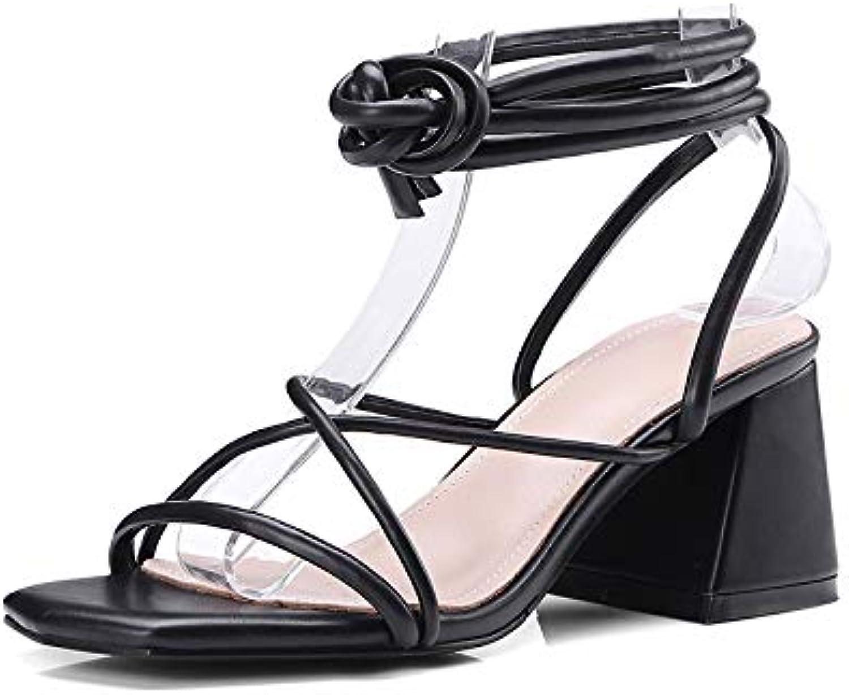 HOESCZS 2018 schwarz Cross Strap Strap Sommer Sandalen Schuhe Frauen Hoof High Heels Feste Party Frau Schuhe,  Kommen Sie und wählen Sie Ihren eigenen Sportstil