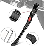 ZOSEN Adjustable Bicycle Kickstand Aluminium Alloy Bike Side Support for 22 24 26 Inch /700C Bicycles with 2 Hexagon Wrenches (Black-1 Pack)