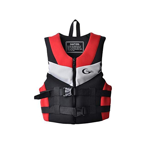 Best Bargain XIMINGJIA Life Jacket, Polyester Oxford Fabric, Adult Life Jacket, Blue (Color : Red, S...