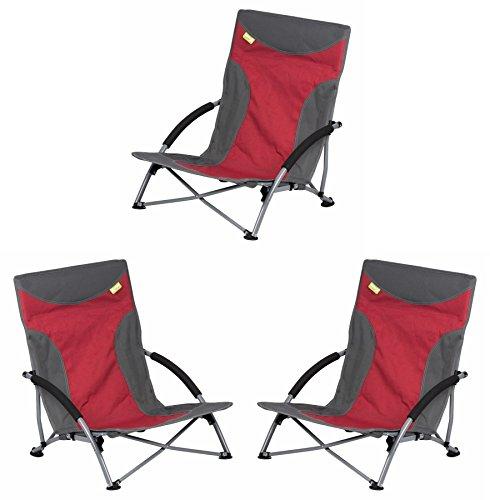 Kampa Sandy Niedriger Stuhl–rot X 3