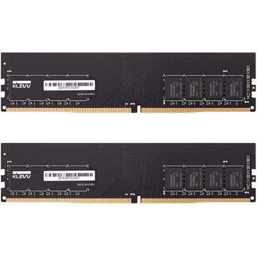 KLEVV Hynix Chips 32GB (2 x 16GB) DDR4 UDIMM PC4-21300 2666MHz CL19 Unbuffered Non-ECC 1.2V 288 Pin Desktop Ram Memory (KD4AGU881-26N190D)