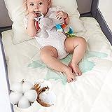 Lofe Organic Cotton Crib Mattress Protector - 100% Waterproof Crib Mattress Pad, Breathable Baby Crib Mattress Cover, Infant Toddler Crib Mattress Fitted 52x28x9 in, Top&Side Waterproof