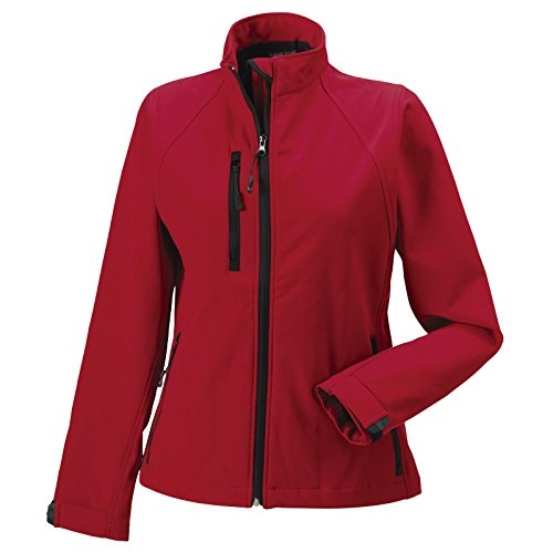 Russell Damen Softshell Jacke, Größe:XL, Farbe:Classic red