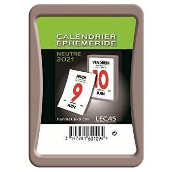 Calendrier Ephemeride 2021 LECAS Bloc, Ph. Meride 2021: Amazon.fr: Fournitures de bureau