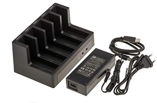 Docking Station. Dock per 5 dischi SATA 2.5 o 3.5 collegamento USB3 con funzione CLONAGE. USB 3.0 5G, alimentazione esterna 6.5A.
