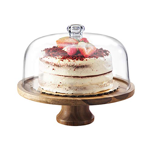 Godinger Cake Stand, Footed Cake Plate Server with...