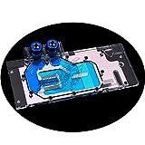 GPU Copper Waterblock G1/4 Full Cover Watercooling PC Liquid Cooling GPU Watercooling Block Cooler for Graphic Cards Gigabyte GTX 1080 1070 1060 GV-N1080 GV-N1070 5V 3Pin RGB RBW LED