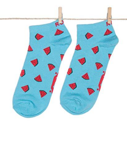 Roits Herren Lustige Wassermelonen Low Blau Socken 41-46 - Bunte Witzige Knöchelsocken