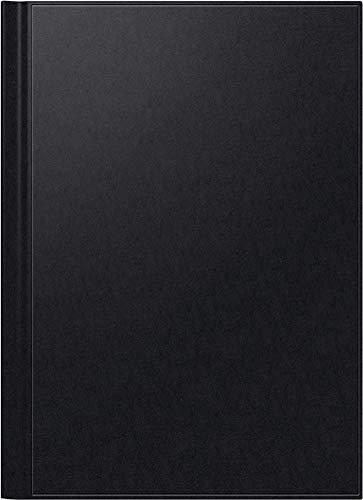 BRUNNEN 1078160901 Buchkalender Modell 781, 2 Seiten = 1 Woche, 21 x 29,7 cm, Balacron-Einband schwarz, Kalendarium 2021