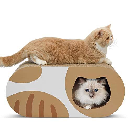 MAFANG Tablero Rascador para Gatos con Hierba Gatera, Nido para Gatos, Juguetes para Gatos, Alfombrillas para Rascar De Cartón Corrugado, Rascador Reciclable, Cartón De Calidad,Style 1