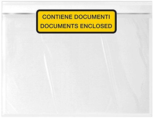 WePack 240180100S Buste Autoadesive Portadocumenti, C5, Trasparente