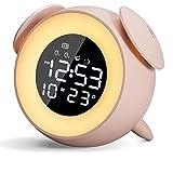 Wake Up Light Despertador Luz Led, Luces Despertador Con SimulacióN De Amanecer Y Atardece, FuncióN De Control TáCtil, 2 Alarmas,6 Colores Ajustables Despertador,USB Despertador Luz Niños/Adulto