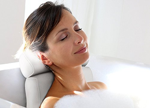Luxury Home Spa Bath Pillow. Deep Cushions Cradle Head and Neck, Hug Shoulders, Optimise Back...