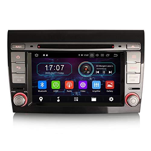 ERISIN 7 pollici Android 10.0 Autoradio per Fiat Bravo Supporto GPS Sat Nav Carplay Android Auto Bluetooth A2DP Wifi 4G DAB + RDS Mirror Link TPMS SWC 2 GB RAM + 16 GB ROM