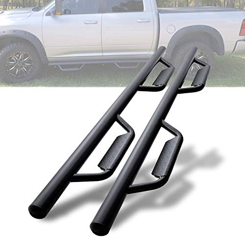 Drop Running Boards Side Step Nerf Bars Hoop Bar Drop Step Style for 2009-2018 Dodge Ram 1500 Crew Cab, 2010-2021 Ram 2500/3500 (Including 2019 Classic)